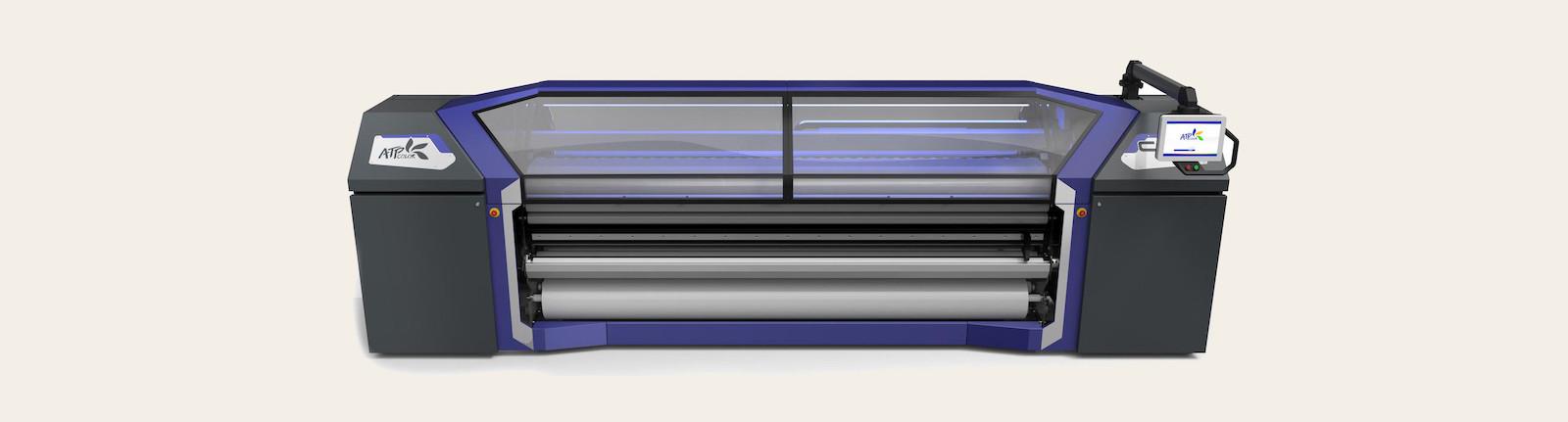 Stampante per sublimazione con calandra integrata